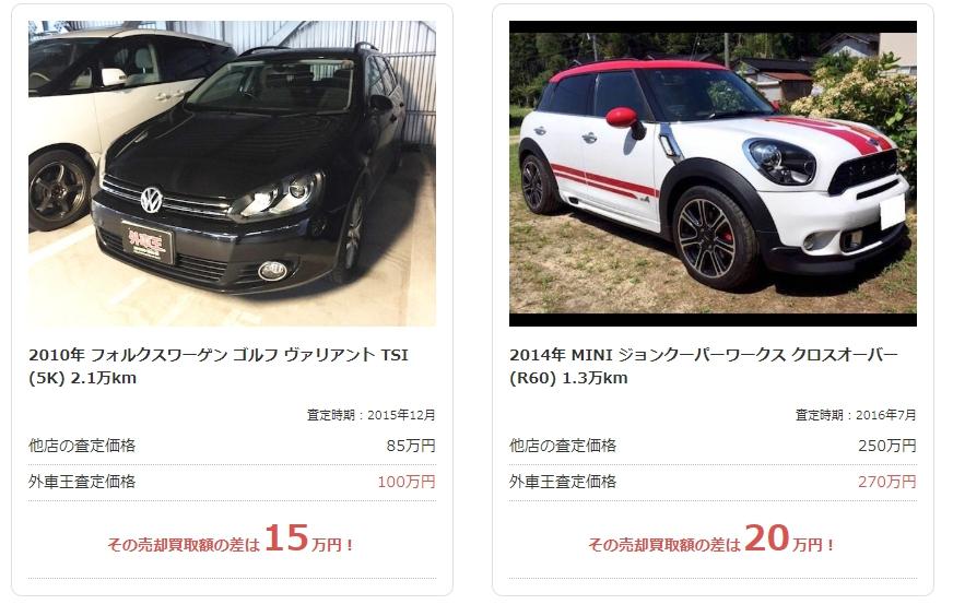 輸入車 高く売る